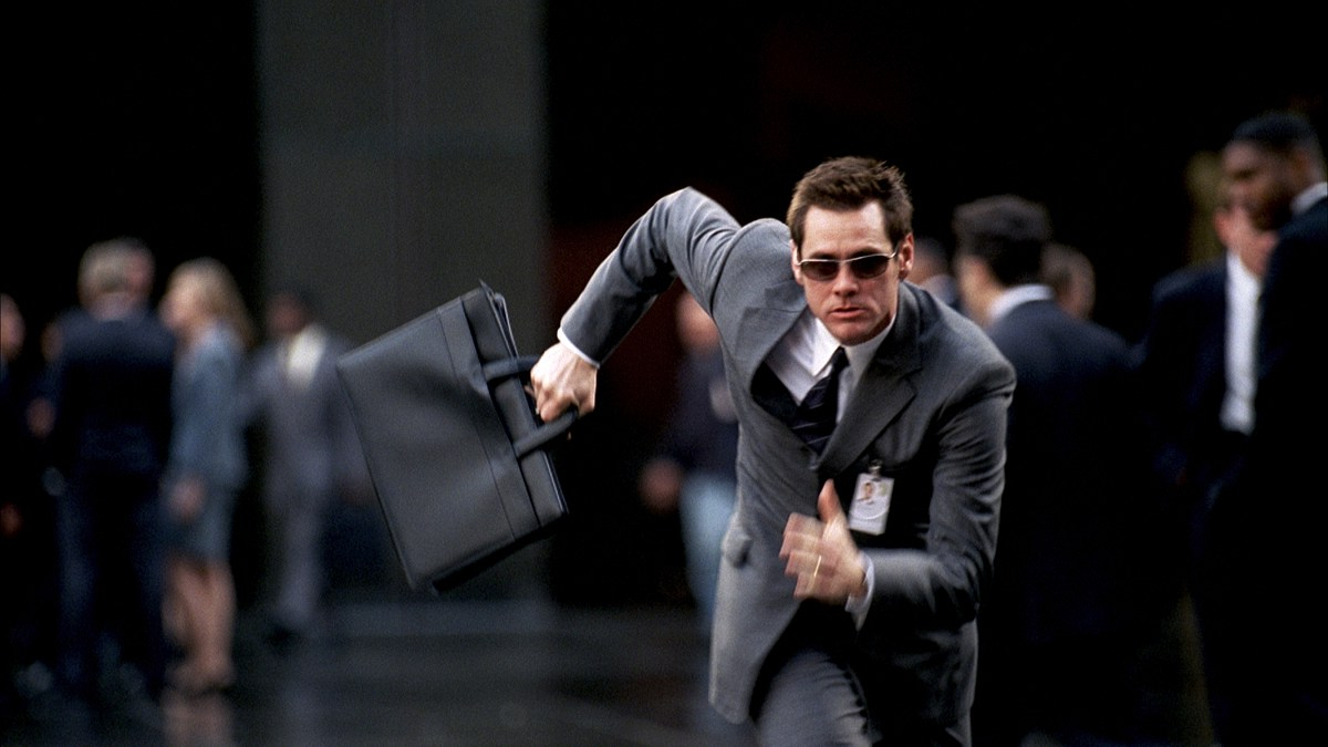 бегущий человек с портфелем