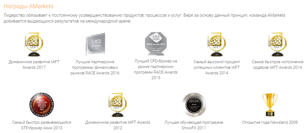 Награды Амаркетс