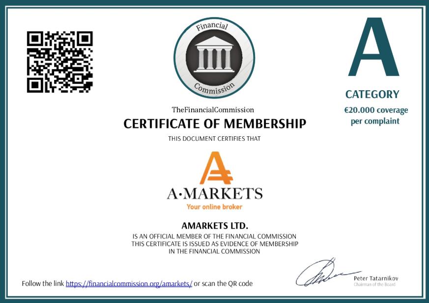 Сертификат The Financial Comission