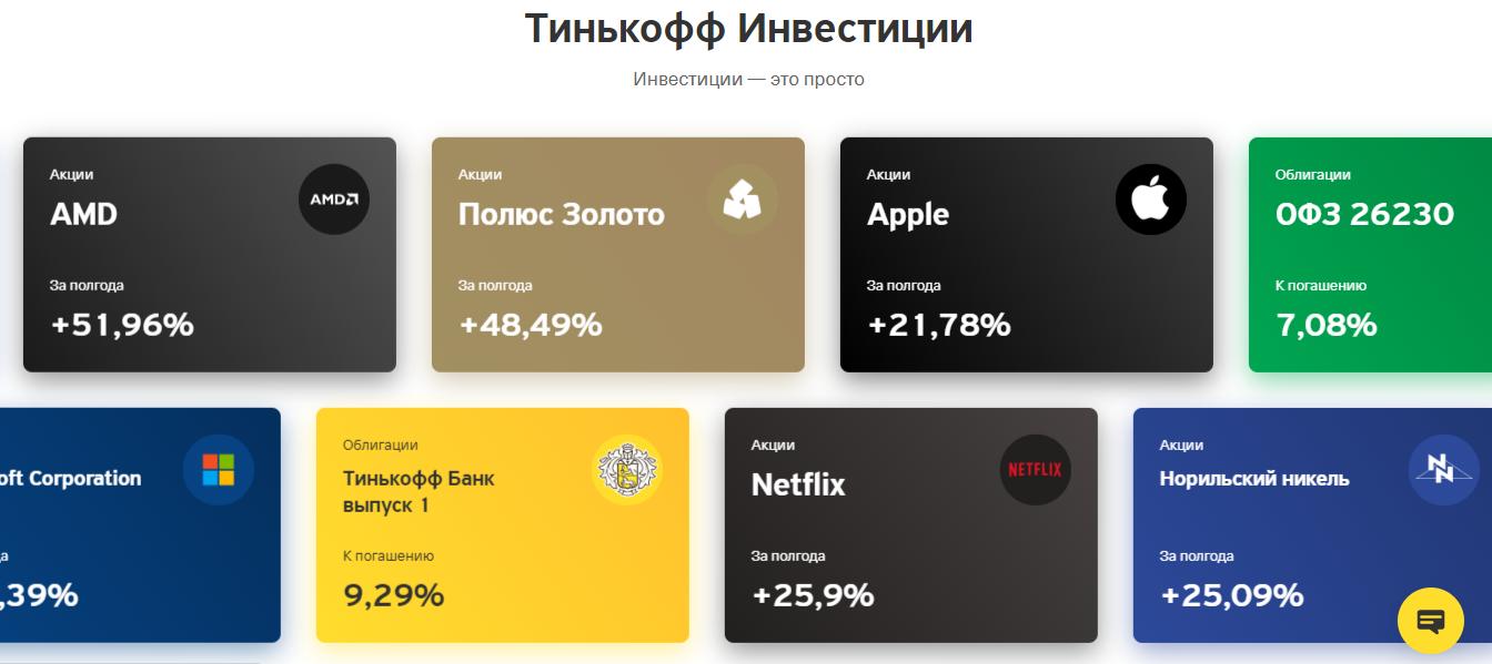 ИИС Тинькофф инвестиции