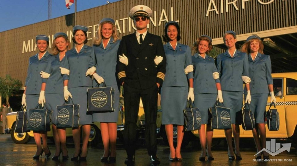 Пилот и стюардессы