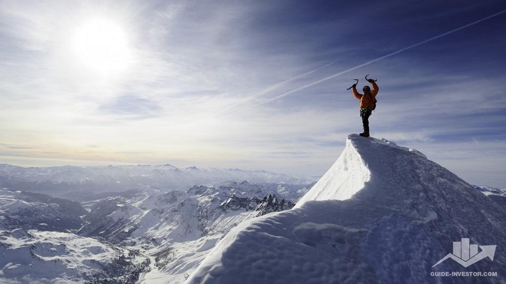 покорение горной вершины