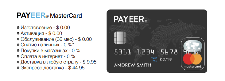 payeer card