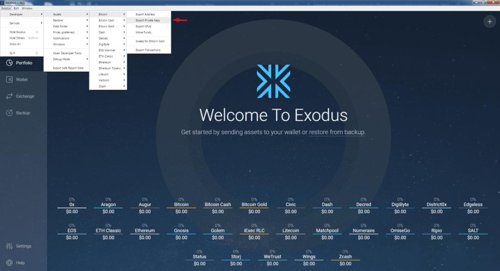 backup exodus