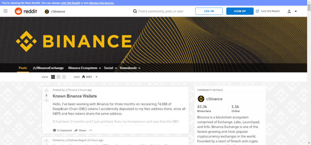 reddit binance