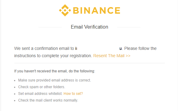 binance step 2