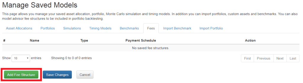 add fee structure
